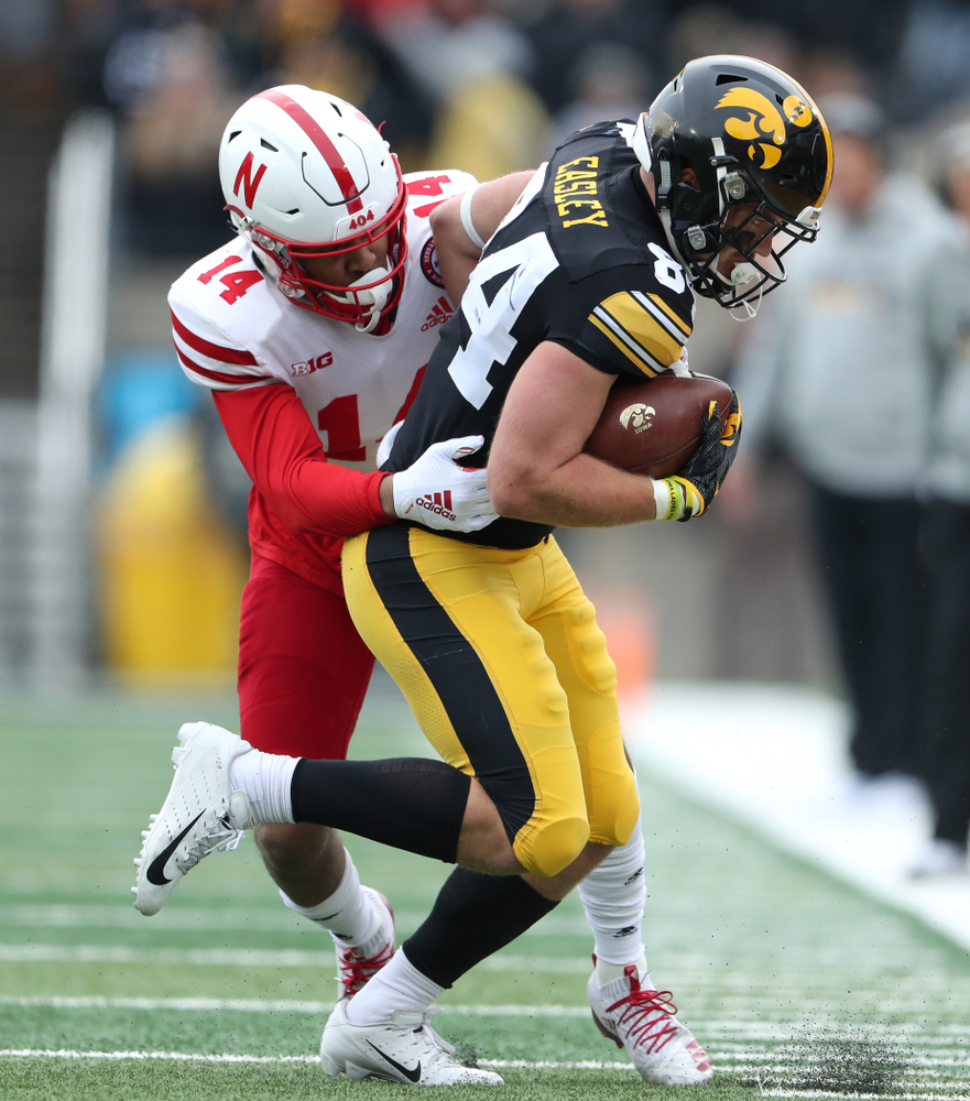 Iowa Hawkeyes wide receiver Nick Easley (84) against the Nebraska Cornhuskers Friday, November 23, 2018 at Kinnick Stadium. (Brian Ray/hawkeyesports.com)