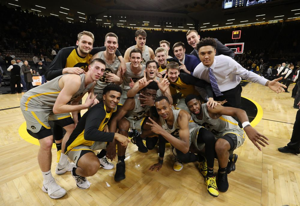 The Iowa Hawkeyes following their game against the Nebraska Cornhuskers Sunday, January 6, 2019 at Carver-Hawkeye Arena. (Brian Ray/hawkeyesports.com)
