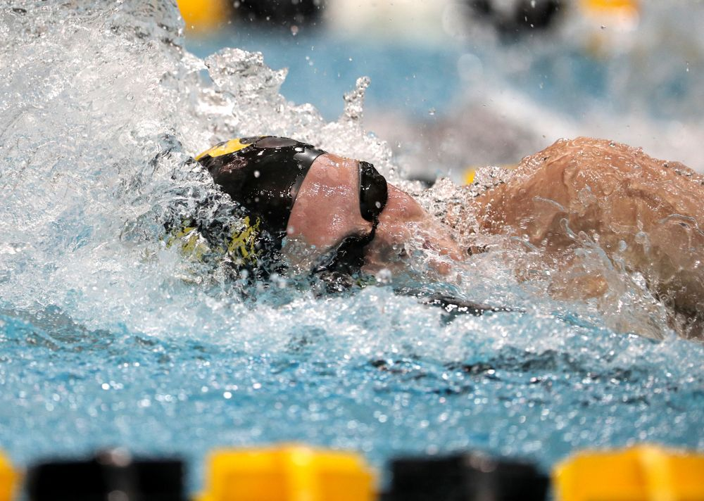 Iowa's Sarah Schemmel swims the 50-yard freestyle against the Iowa State Cyclones in the Iowa Corn Cy-Hawk Series Friday, December 7, 2018 at at the Campus Recreation and Wellness Center. (Brian Ray/hawkeyesports.com)
