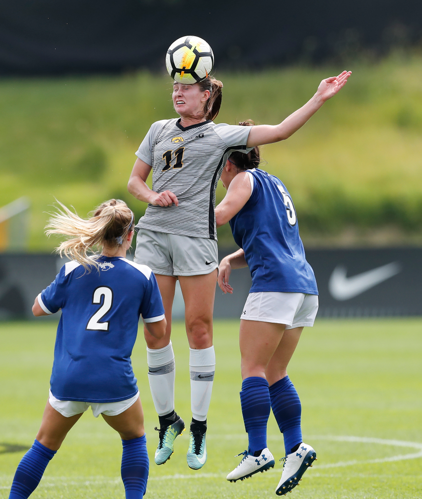 Iowa Hawkeyes Sydney Blitchok (11) against Indiana State Sunday, August 26, 2018 at the Iowa Soccer Complex. (Brian Ray/hawkeyesports.com)