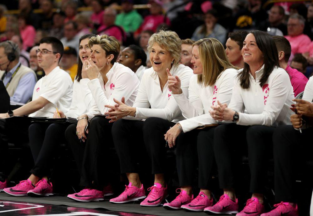 Iowa Hawkeyes head coach Lisa Bluder against the Wisconsin Badgers Sunday, February 16, 2020 at Carver-Hawkeye Arena. (Brian Ray/hawkeyesports.com)