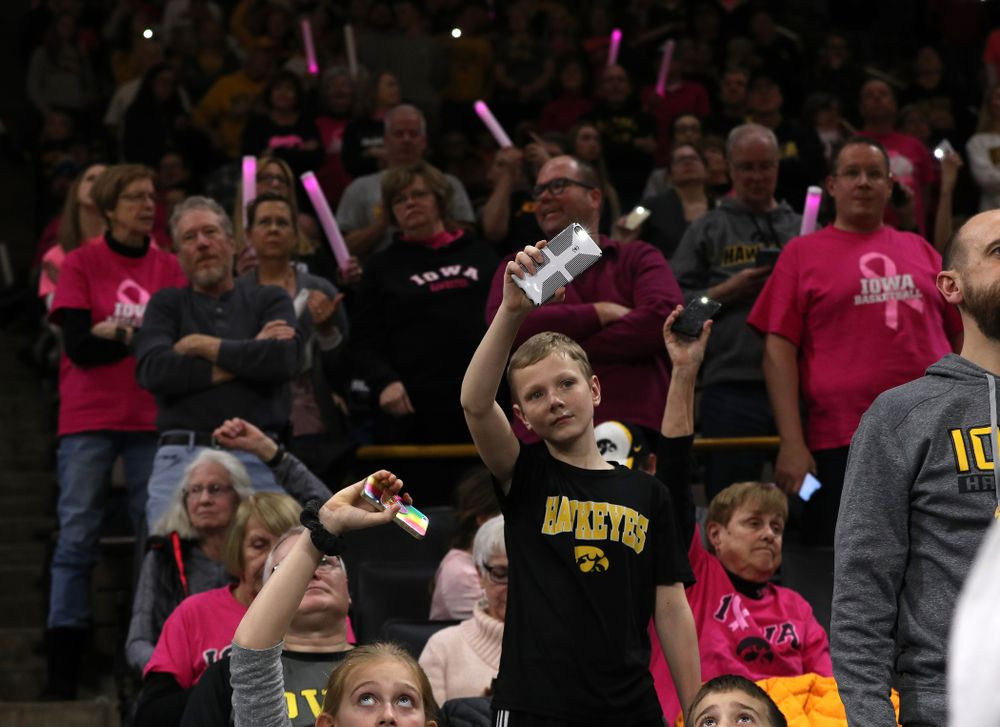 Fans against the seventh ranked Maryland Terrapins Sunday, February 17, 2019 at Carver-Hawkeye Arena. (Brian Ray/hawkeyesports.com)