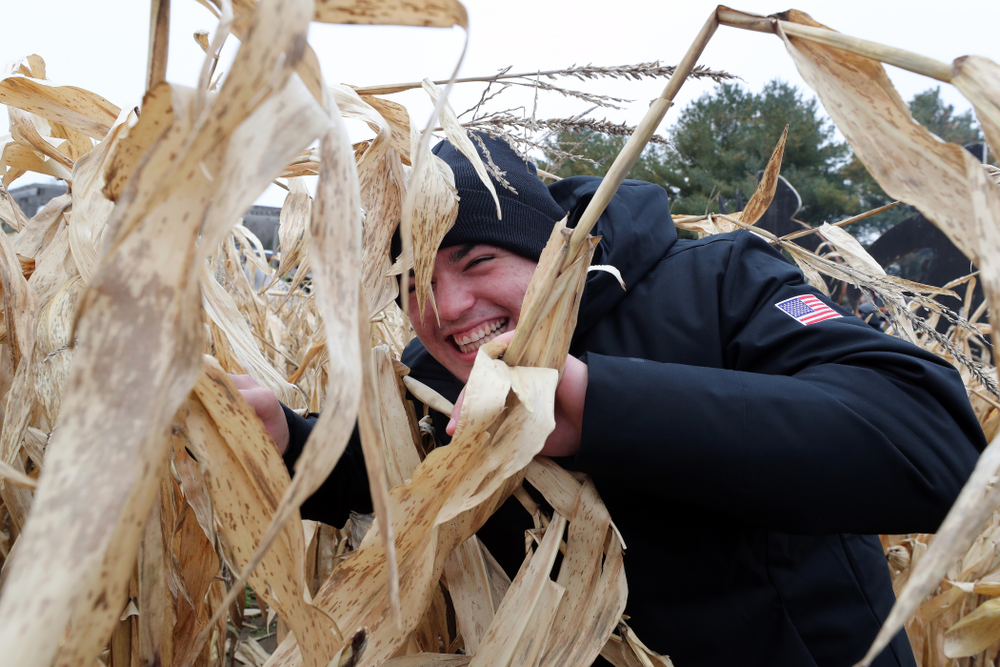 Iowa Wrestler Tony Cassioppi poses for a photo during the teamÕs annual media day Wednesday, October 30, 2019 at Kroul Family Farms in Mount Vernon. (Brian Ray/hawkeyesports.com)