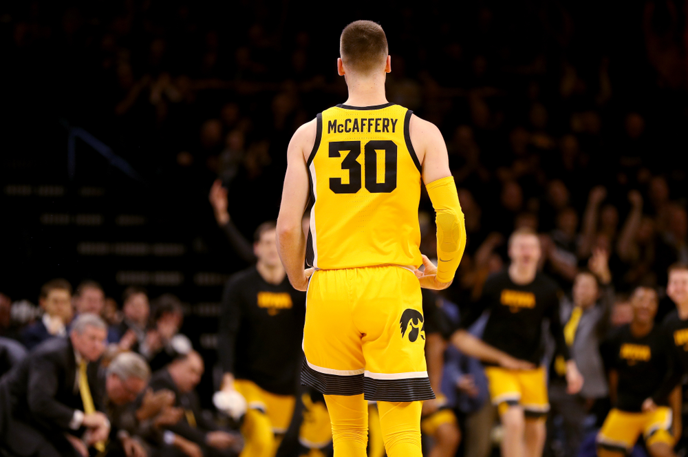 Iowa Hawkeyes guard Connor McCaffery (30) against the Nebraska Cornhuskers Saturday, February 8, 2020 at Carver-Hawkeye Arena. (Brian Ray/hawkeyesports.com)