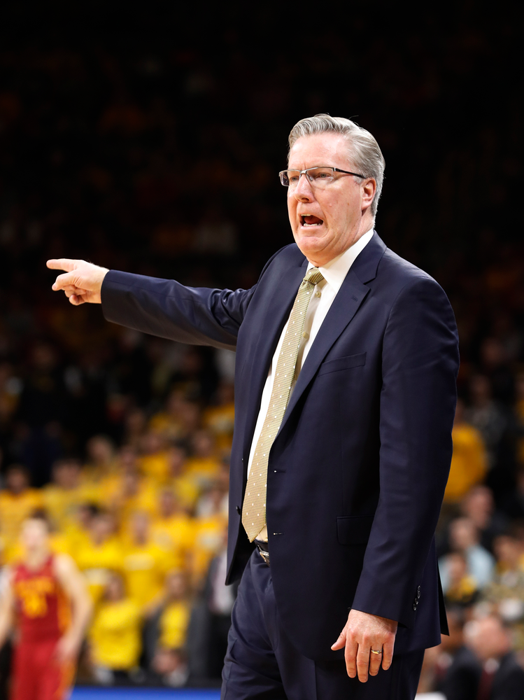 Iowa Hawkeyes head coach Fran McCaffery