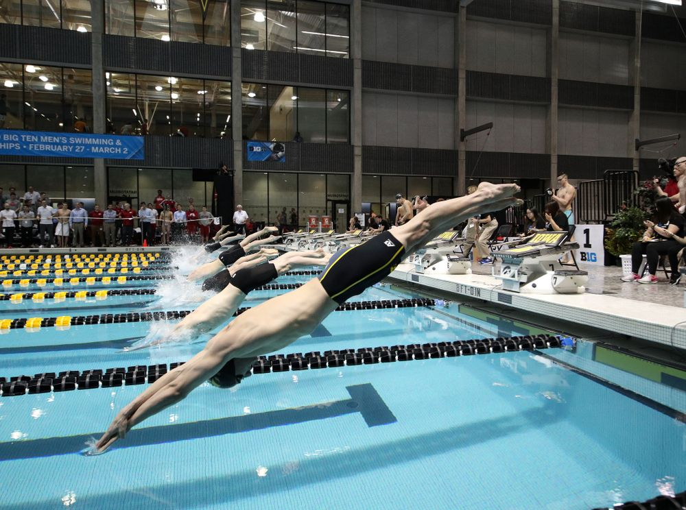 Iowa's William Scott swims the 50-yard freestyle during the bonus final of the second day at the 2019 Big Ten Swimming and Diving Championships Thursday, February 28, 2019 at the Campus Wellness and Recreation Center. (Brian Ray/hawkeyesports.com)