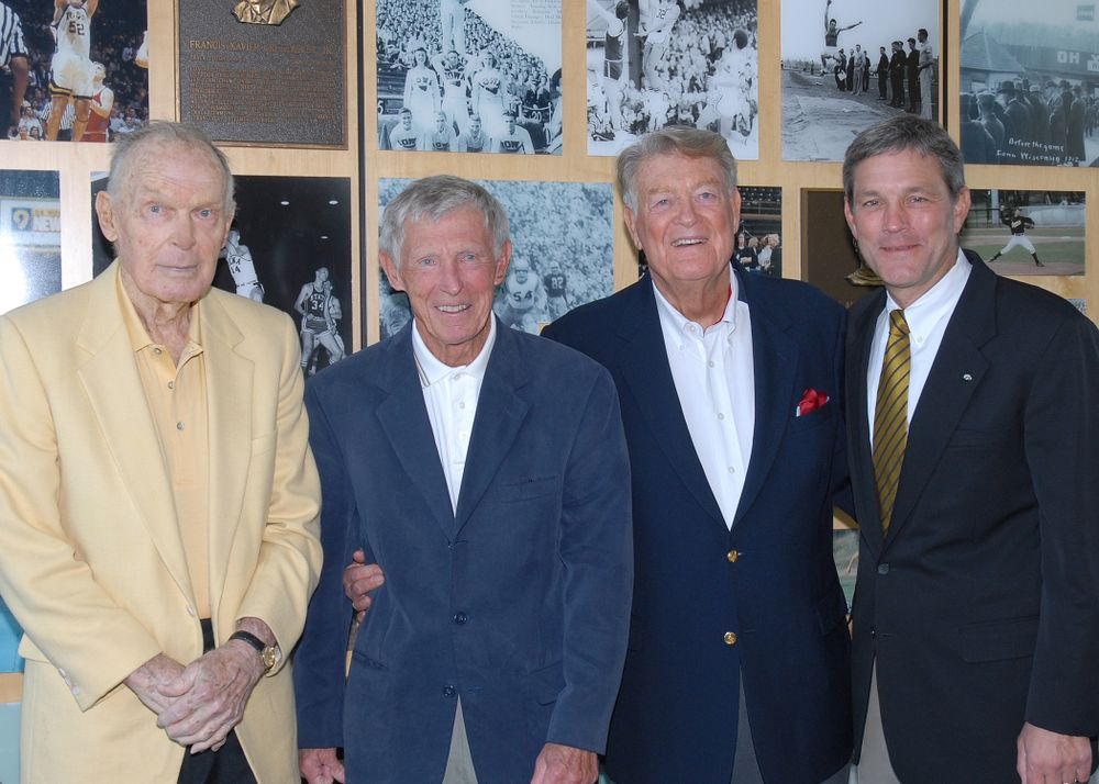 Historic Photos of Hayden Fry with Kirk Ferentz