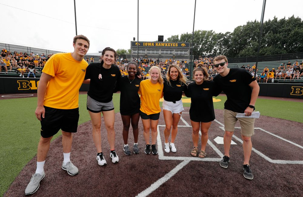 The ISAAC Executive Board during the Iowa Student Athlete Kickoff Kickball game  Sunday, August 19, 2018 at Duane Banks Field. (Brian Ray/hawkeyesports.com)