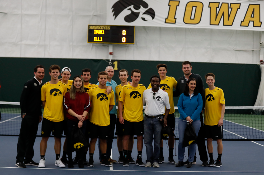 Professor Appreciation Day against the Illinois Fighting Illini Saturday, March 31, 2018 at Hawkeye Tennis and Recreation Center. (Brian Ray/hawkeyesports.com)
