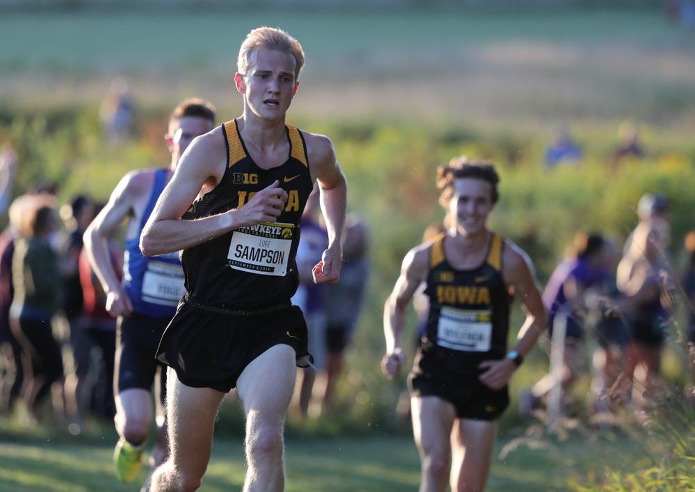 IowaÕs Luke Sampson runs in the 2019 Hawkeye Invitational Friday, September 6, 2019 at the Ashton Cross Country Course. (Brian Ray/hawkeyesports.com)