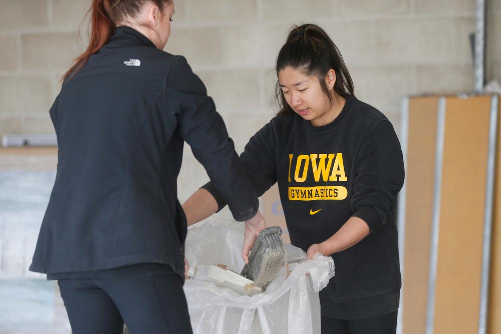 Iowa women's gymnast Nicole Chow