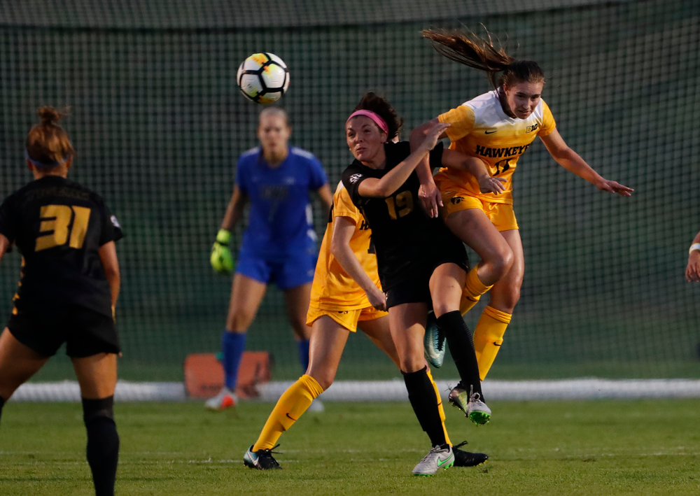 Iowa Hawkeyes Sydney Blitchok (11) against the Missouri Tigers Friday, August 17, 2018 at the Iowa Soccer Complex. (Brian Ray/hawkeyesports.com)