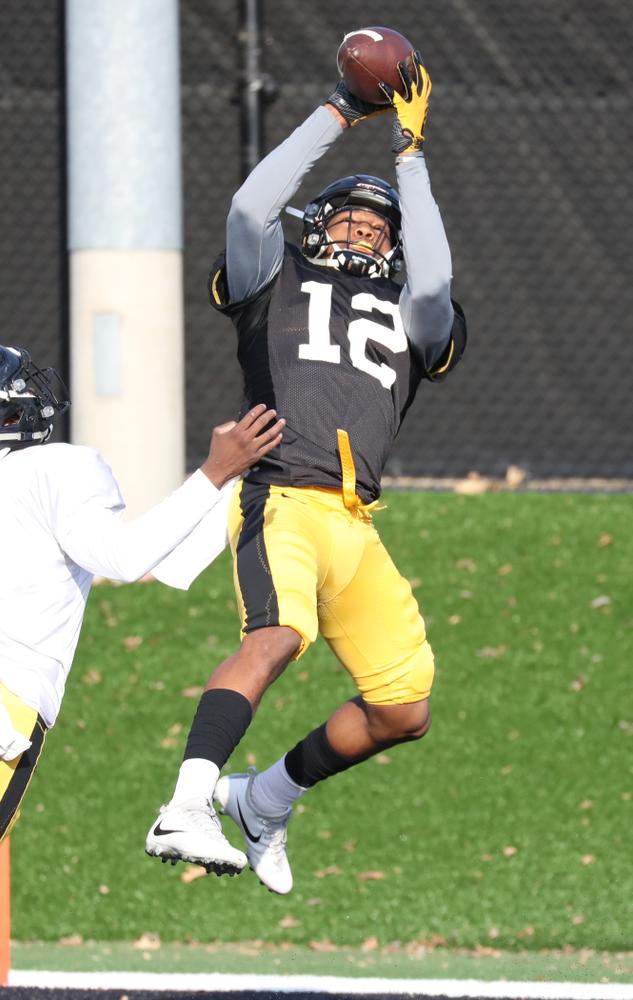 Iowa Hawkeyes wide receiver Brandon Smith (12)