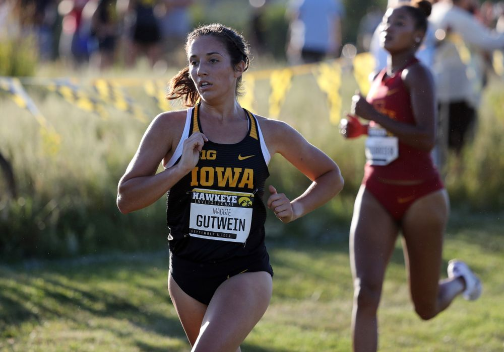 IowaÕs Maggie Gutwein runs in the 2019 Hawkeye Invitational Friday, September 6, 2019 at the Ashton Cross Country Course. (Brian Ray/hawkeyesports.com)