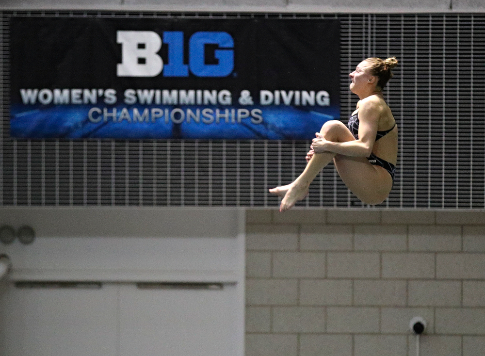 Iowa's Samantha Tamborski competes in the women's 3 meter diving final event during the 2020 Women's Big Ten Swimming and Diving Championships at the Campus Recreation and Wellness Center in Iowa City on Friday, February 21, 2020. (Stephen Mally/hawkeyesports.com)