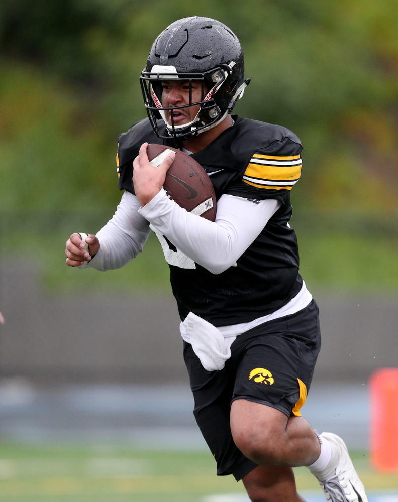 Iowa Hawkeyes running back Ivory Kelly-Martin (21) during practice Monday, December 23, 2019 at Mesa College in San Diego. (Brian Ray/hawkeyesports.com)
