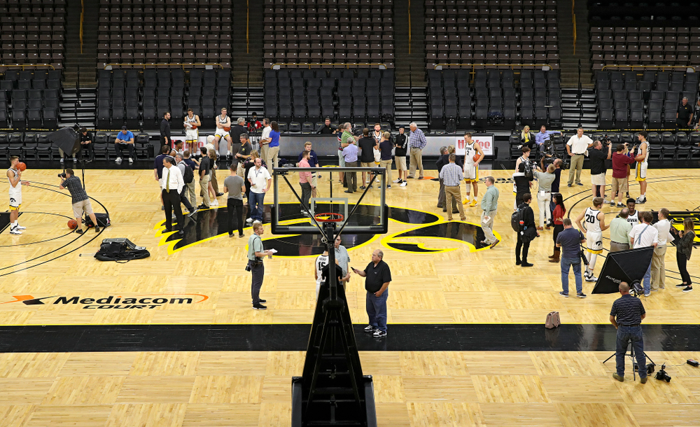 Iowa Men's Basketball Media Day at Carver-Hawkeye Arena in Iowa City on Wednesday, Oct 9, 2019. (Stephen Mally/hawkeyesports.com)