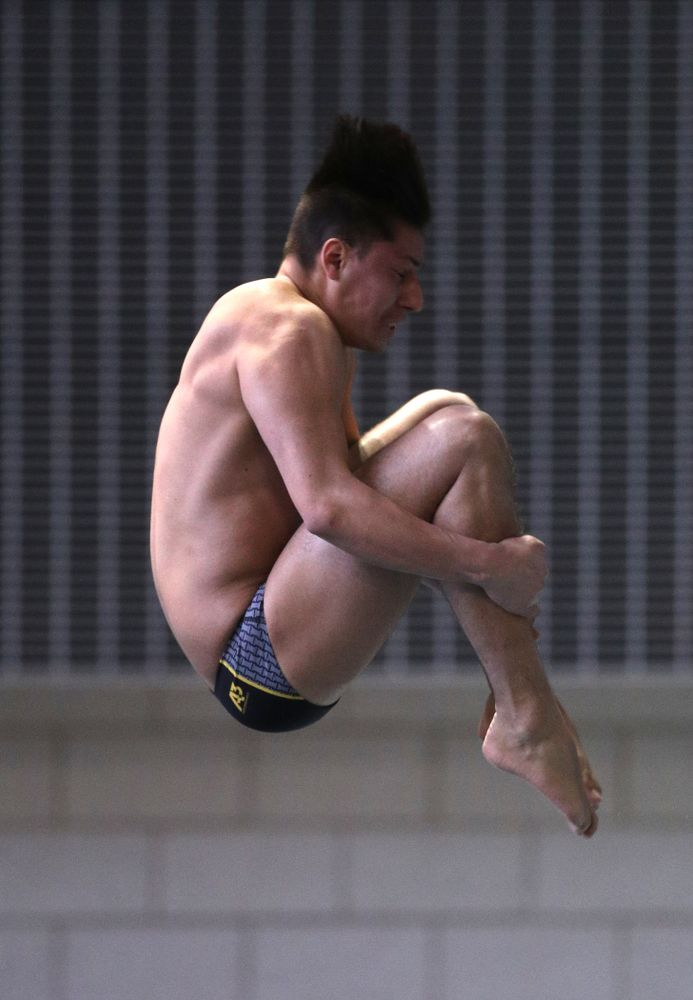 Iowa's Jonatan Posligua competes on the 3-meter springboard during the third day of the 2019 Big Ten Swimming and Diving Championships Thursday, February 28, 2019 at the Campus Wellness and Recreation Center. (Brian Ray/hawkeyesports.com)