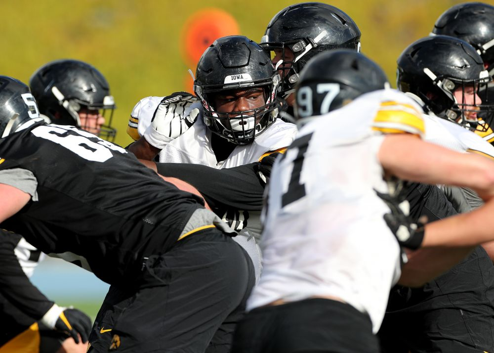 Iowa Hawkeyes defensive tackle Daviyon Nixon (54) during Holiday Bowl Practice No. 3  Tuesday, December 24, 2019 at San Diego Mesa College. (Brian Ray/hawkeyesports.com)