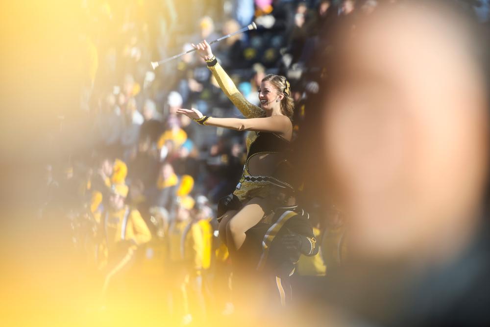 Hawkeye Marching Band Golden Girl Kylene Spanbauer during Iowa football vs Illinois on Saturday, November 23, 2019 at Kinnick Stadium. (Lily Smith/hawkeyesports.com)