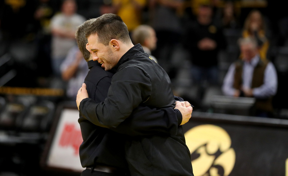 Iowa's Danny Murphy during senior day activities Sunday, February 23, 2020 at Carver-Hawkeye Arena. (Brian Ray/hawkeyesports.com)