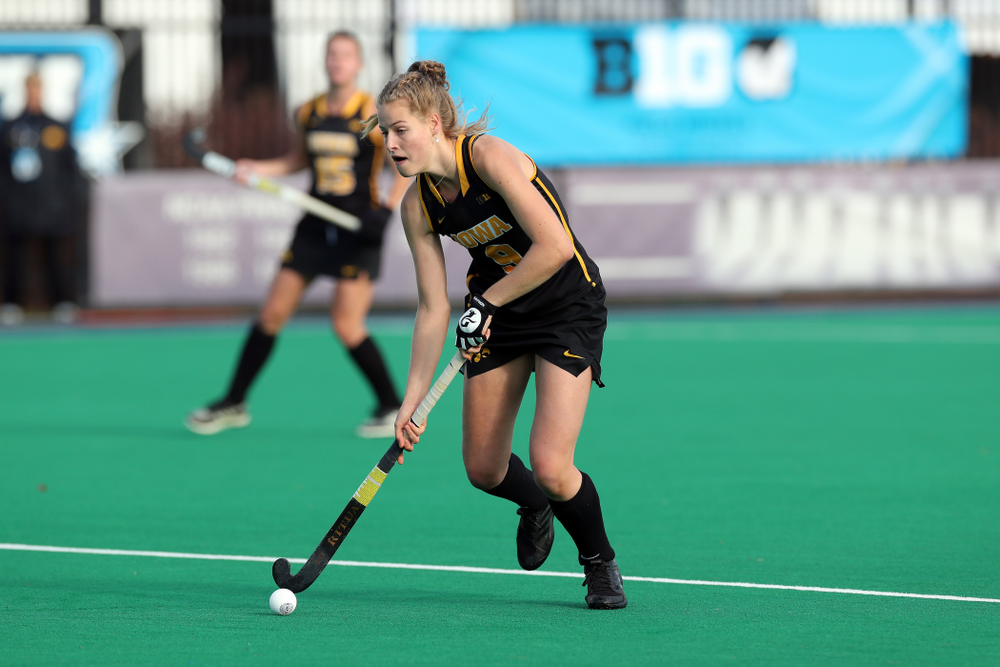 Iowa Hawkeyes Sofie Stribos (9) against Penn State in the 2019 Big Ten Field Hockey Tournament Championship Game Sunday, November 10, 2019 in State College. (Brian Ray/hawkeyesports.com)