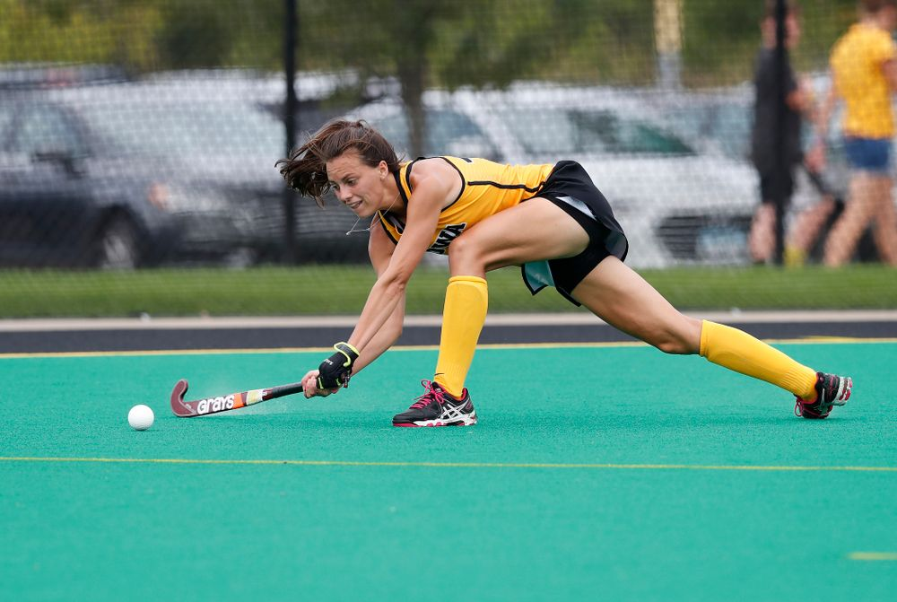 Iowa Hawkeyes Isabella Brown (10) against Ball State Sunday, September 2, 2018 at Grant Field. (Brian Ray/hawkeyesports.com)