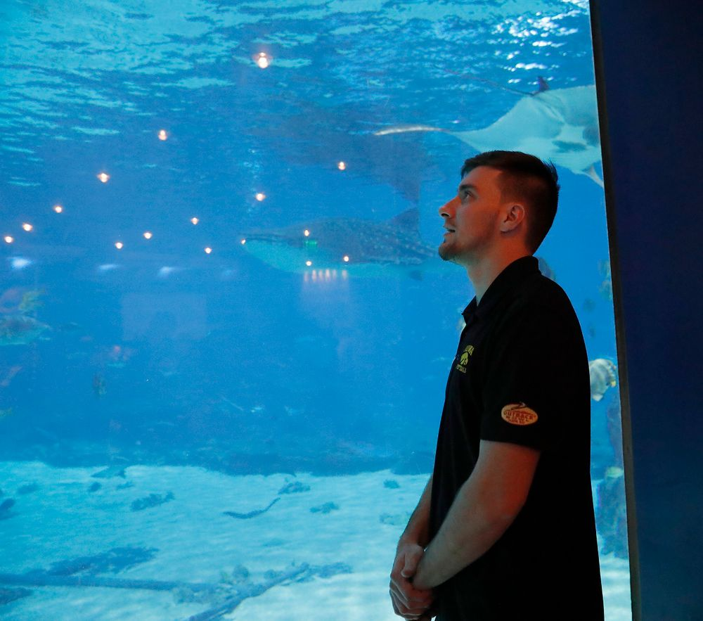 Keith Duncan at the Georgia Aquarium.
