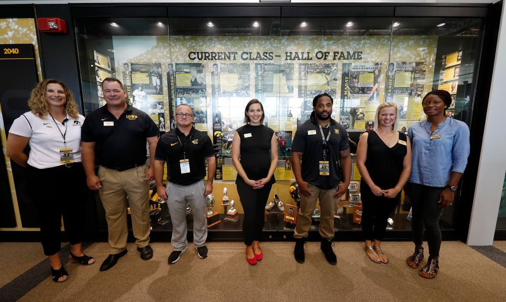The 2018 Iowa Athletics Hall of Fame Class Friday, August 31, 2018 at the Hall of Fame. (Brian Ray/hawkeyesports.com)
