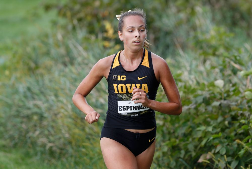Ashley Espinosa during the Hawkeye Invitational Friday, August 31, 2018 at the Ashton Cross Country Course.  (Brian Ray/hawkeyesports.com)
