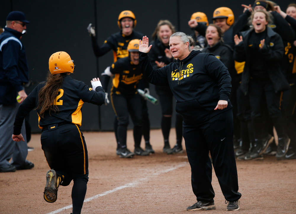 Iowa Hawkeyes head coach Marla Looper