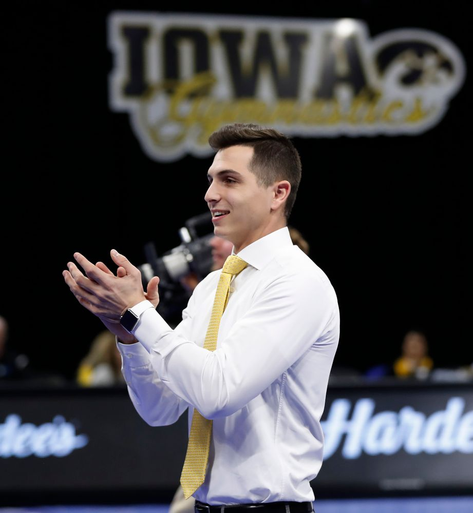 Iowa assistant coach Vince Smurro against the Nebraska Cornhuskers
