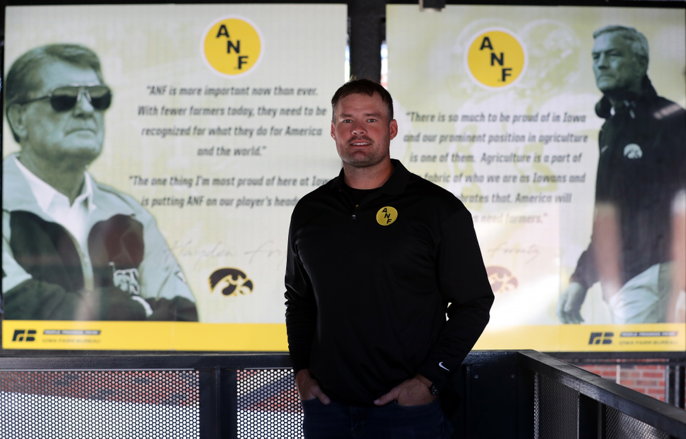 ANF Honoree Matt Kroul Tuesday, October 8, 2019 in the ANF Plaza at Kinnick Stadium. (Brian Ray/hawkeyesports.com)