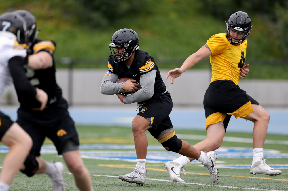 Iowa Hawkeyes running back Toren Young (28) during practice Sunday, December 22, 2019 at Mesa College in San Diego. (Brian Ray/hawkeyesports.com)