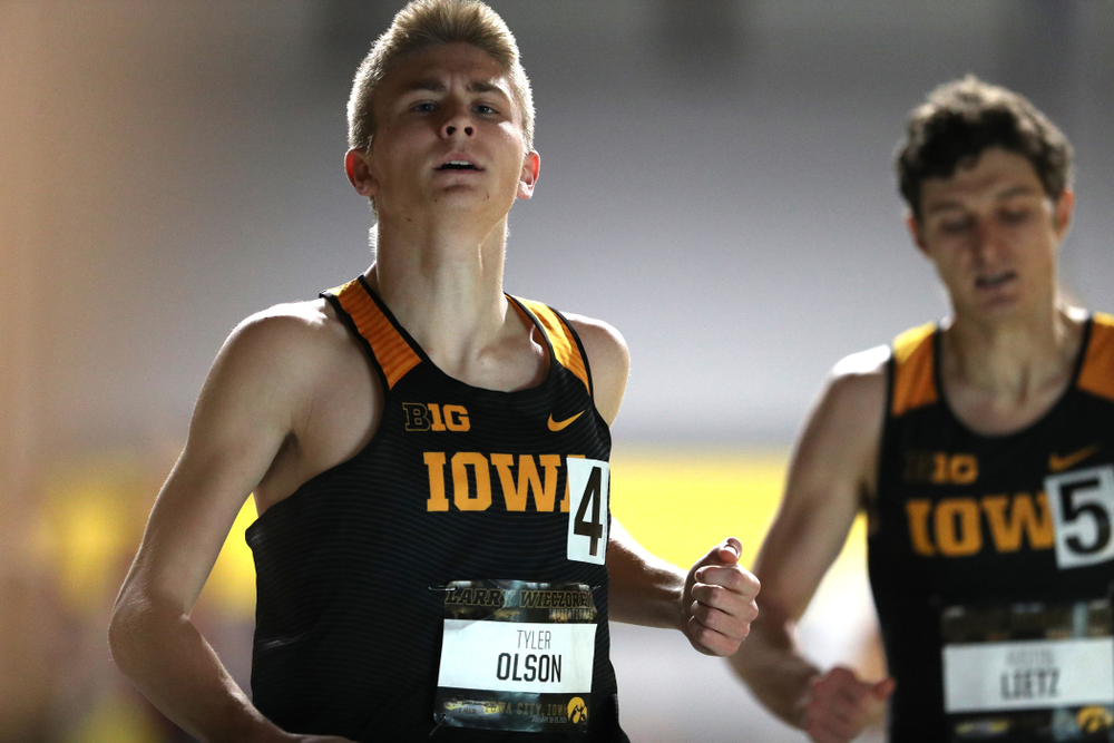Iowa's Tyler Olson runs the 600 meter premier during the 2019 Larry Wieczorek Invitational Friday, January 18, 2019 at the Hawkeye Tennis and Recreation Center. (Brian Ray/hawkeyesports.com)