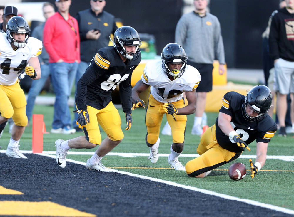 Iowa Hawkeyes fullback Turner Pallissard (40) during the teamÕs final spring practice Friday, April 26, 2019 at the Kenyon Football Practice Facility. (Brian Ray/hawkeyesports.com)