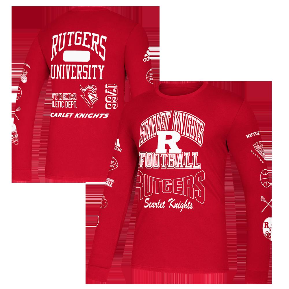 labios conversacion esta ahí  Rutgers Scarlet Knights Adidas Thrift Store Special Long Sleeve T-Shirt -  Rutgers Apparel, Rutgers University Gear, Rutgers Merchandise, Rutgers  Clothing | Official Rutgers Team Shop