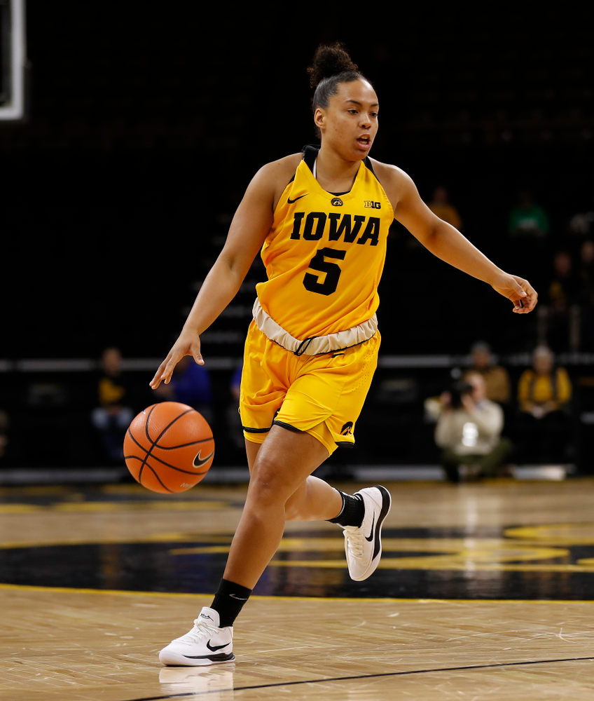Iowa Hawkeyes guard Alexis Sevillian (5)