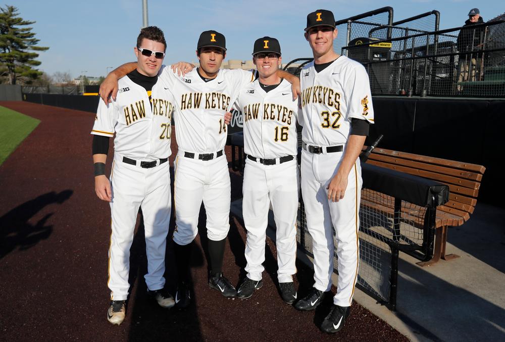 Austin Guzzo (20), Corbin Woods (14),Zach Fricke (16), Sam Norman (32)