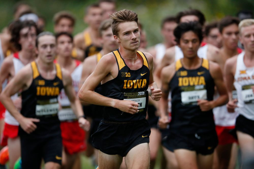 Spencer Smith during the Hawkeye Invitational Friday, August 31, 2018 at the Ashton Cross Country Course.  (Brian Ray/hawkeyesports.com)
