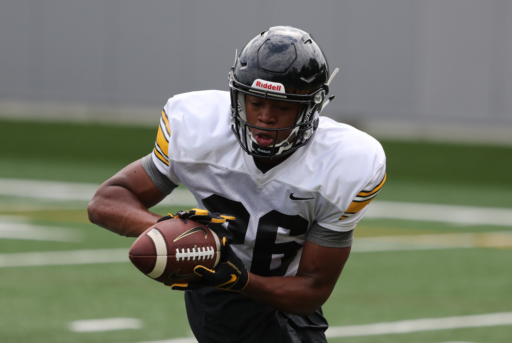 Iowa Hawkeyes defensive back Kaevon Merriweather (26) during practice No. 4 of Fall Camp Monday, August 6, 2018 at the Hansen Football Performance Center. (Brian Ray/hawkeyesports.com)