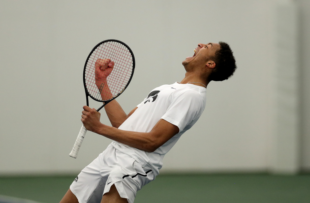 against Cornell Sunday, March 8, 2020 at the Hawkeye Tennis and Recreation Center. (Brian Ray/hawkeyesports.com)