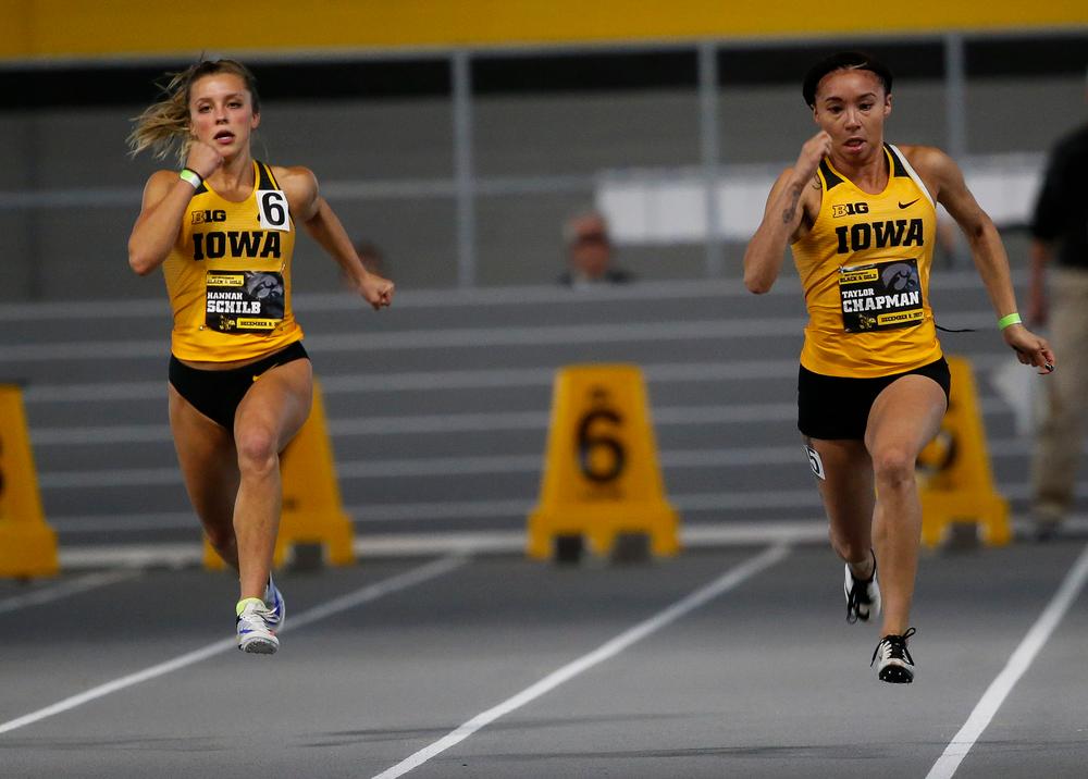 Iowa's Hannah Schilb and Taylor Chapman