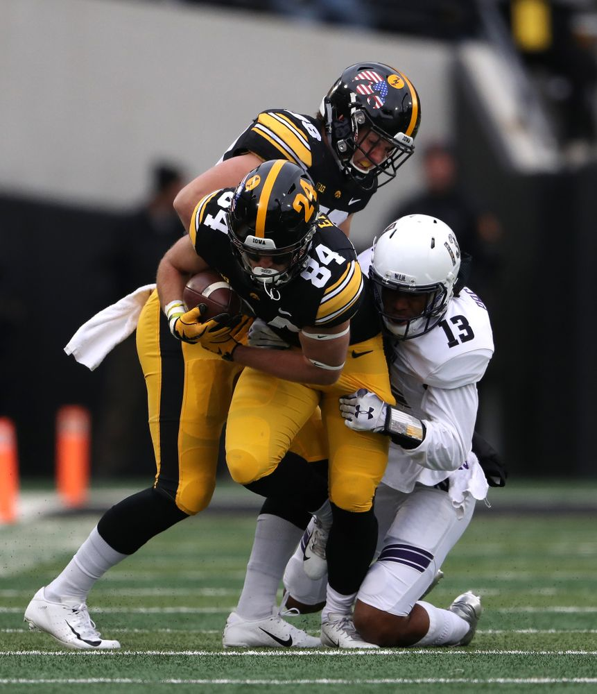 Iowa Hawkeyes wide receiver Nick Easley (84) against the Northwestern Wildcats Saturday, November 10, 2018 at Kinnick Stadium. (Brian Ray/hawkeyesports.com)