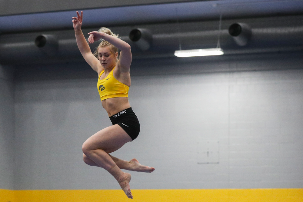 Madelyn Soloman performs on the beam during the Iowa women's gymnastics Black and Gold Intraquad Meet on Saturday, December 7, 2019 at the UI Field House. (Lily Smith/hawkeyesports.com)