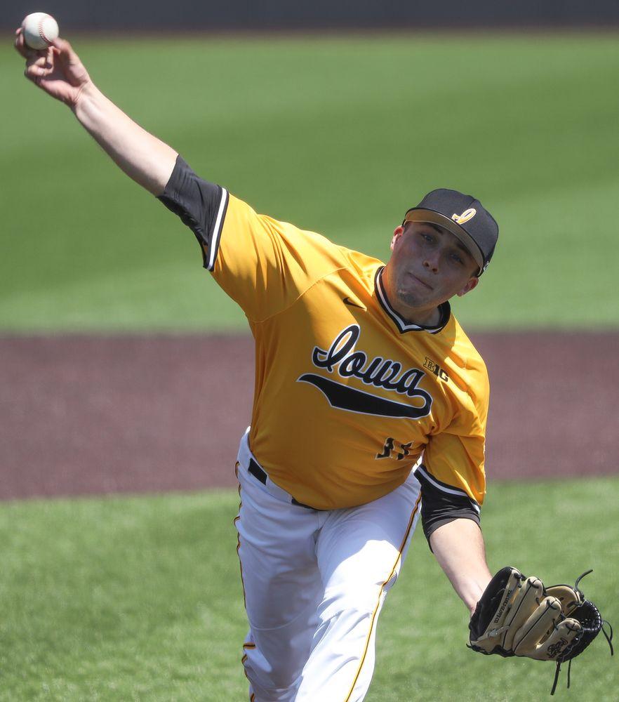 Iowa Hawkeyes pitcher Cole McDonald (11)