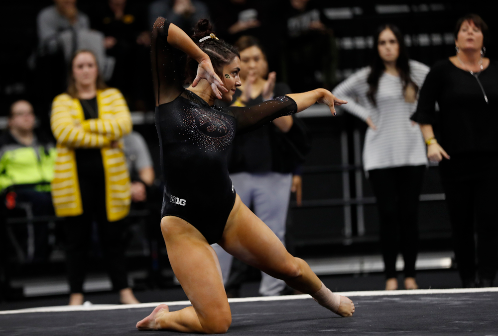 Nikki Youd competes on the floor