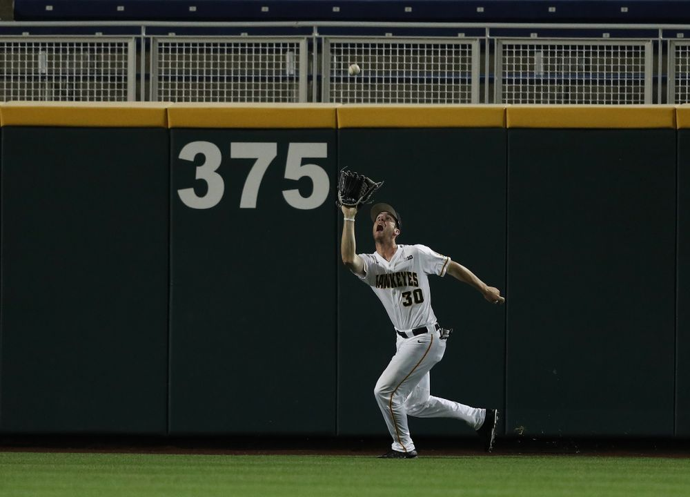 Iowa Hawkeyes Connor McCaffery (30) against the Minnesota Golden Gophers in the  Big Ten Baseball Tournament Friday, May 24, 2019 at TD Ameritrade Park in Omaha, Neb. (Brian Ray/hawkeyesports.com)