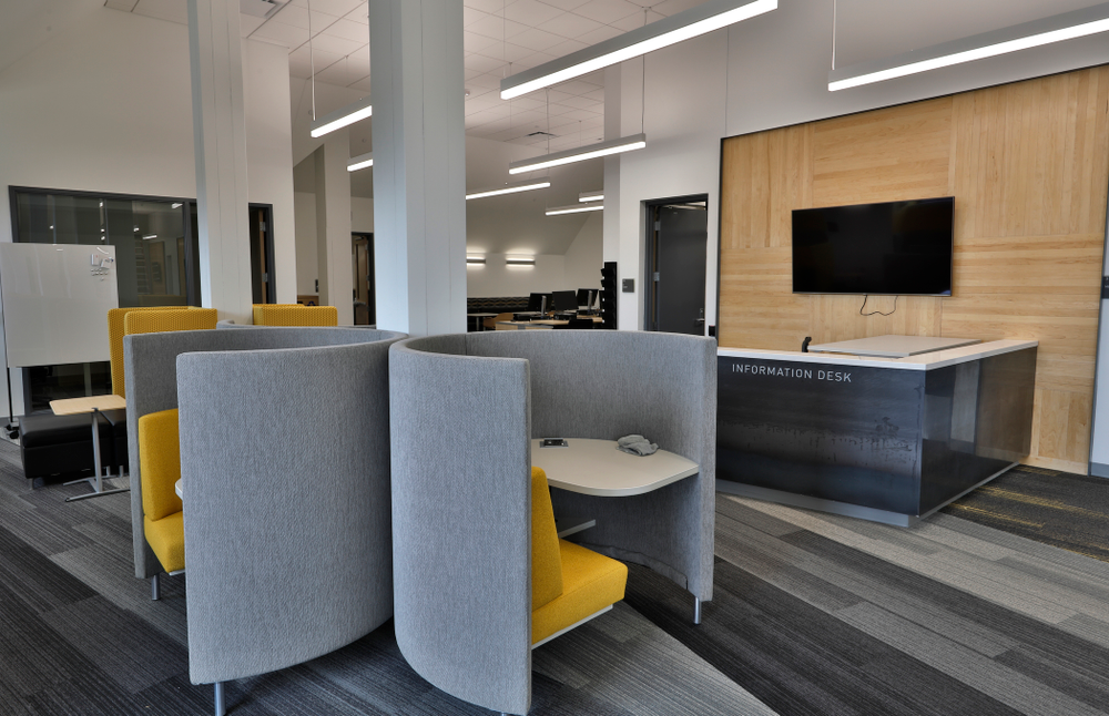 A study area Thursday, April 5, 2018 at the renovated Gerdin Athletic Learning Center. (Brian Ray/hawkeyesports.com)