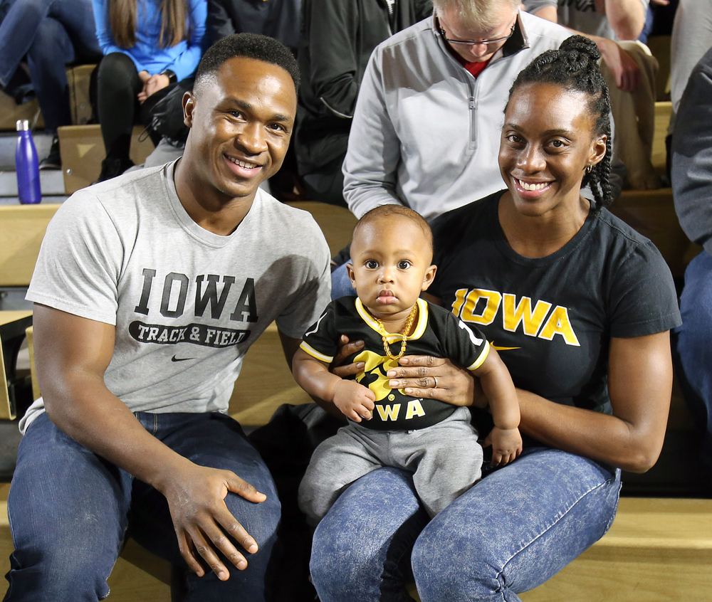 The Sayons are checking out the track & field meet 